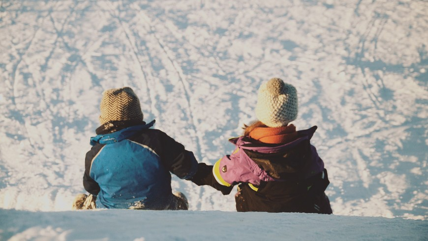 Slittino sulla neve