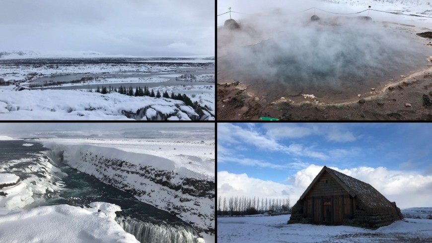 parco nazionale di Þingvellir, Gaysir, cascata di Gullfoss, Skalholt