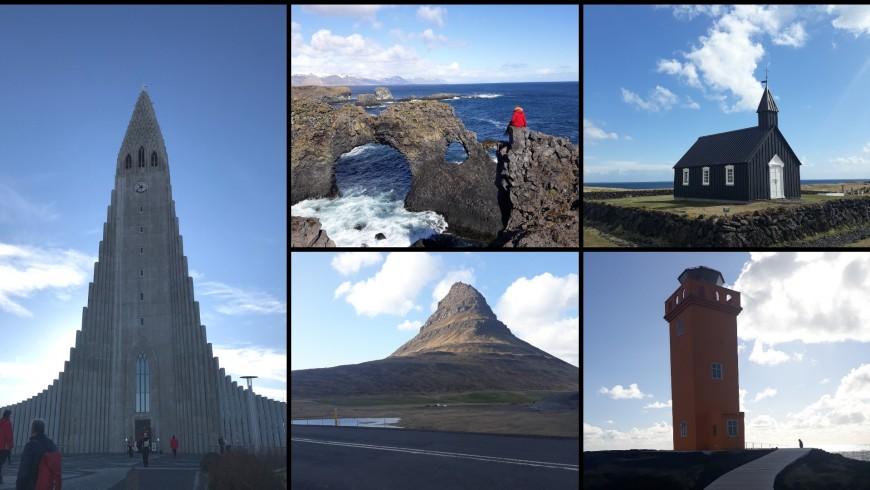 cattedrale di Reykjavik, Arnarstapi, chiesa di Búðakirkja, montagna di Kirkjufell, Öndverðarnes. Ph. Alessia Casalaina