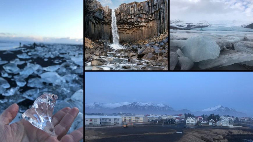 Diamond beach, cascata di Svartifoss, Skaftafell, città di Höfn. Ph. Sara Pescetta