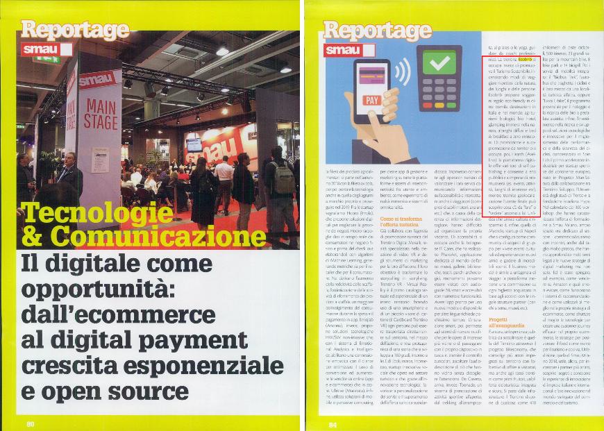 Pagina della rivista Mediaforum che parla di Ecobnb
