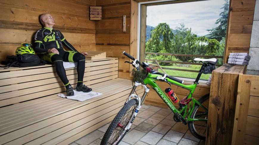 bicicletta e sauna