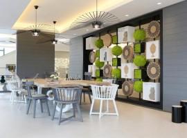 elementi verdi all'hotel Ariel di San Giovanni Rotondo