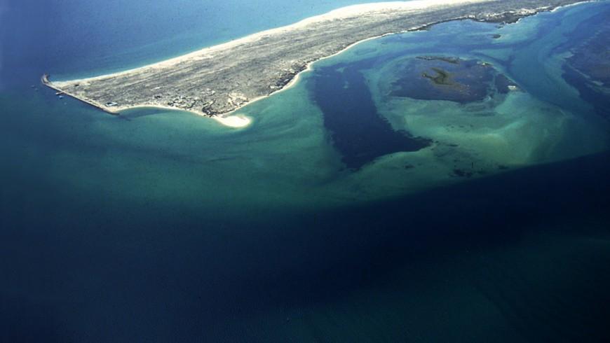Vista aerea sull'isola