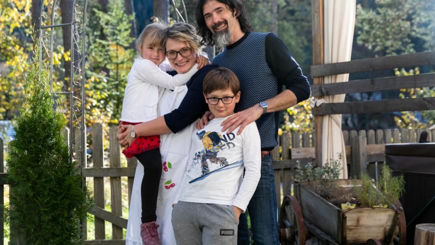 Barbara, con la famiglia gestisce il B&B Les Gomines