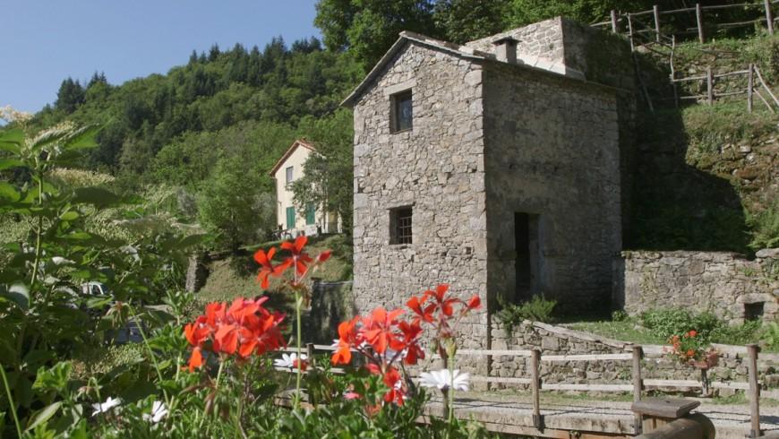 """La particolare struttura del mulino Belpiano, con la """"torre"""""""