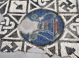 Mosaico nell'area archeologica di Altino