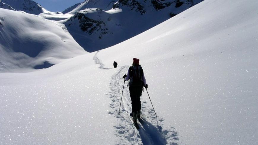 Skitour vicino al bnb Les Gomines