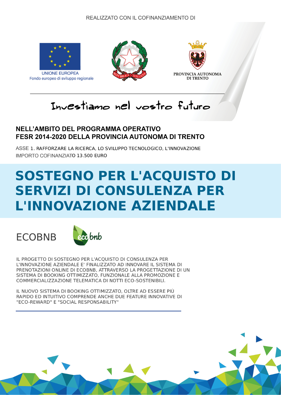 Progetto di innovazione realizzato da Ecobnb nell'ambito di FESR 2014-2020