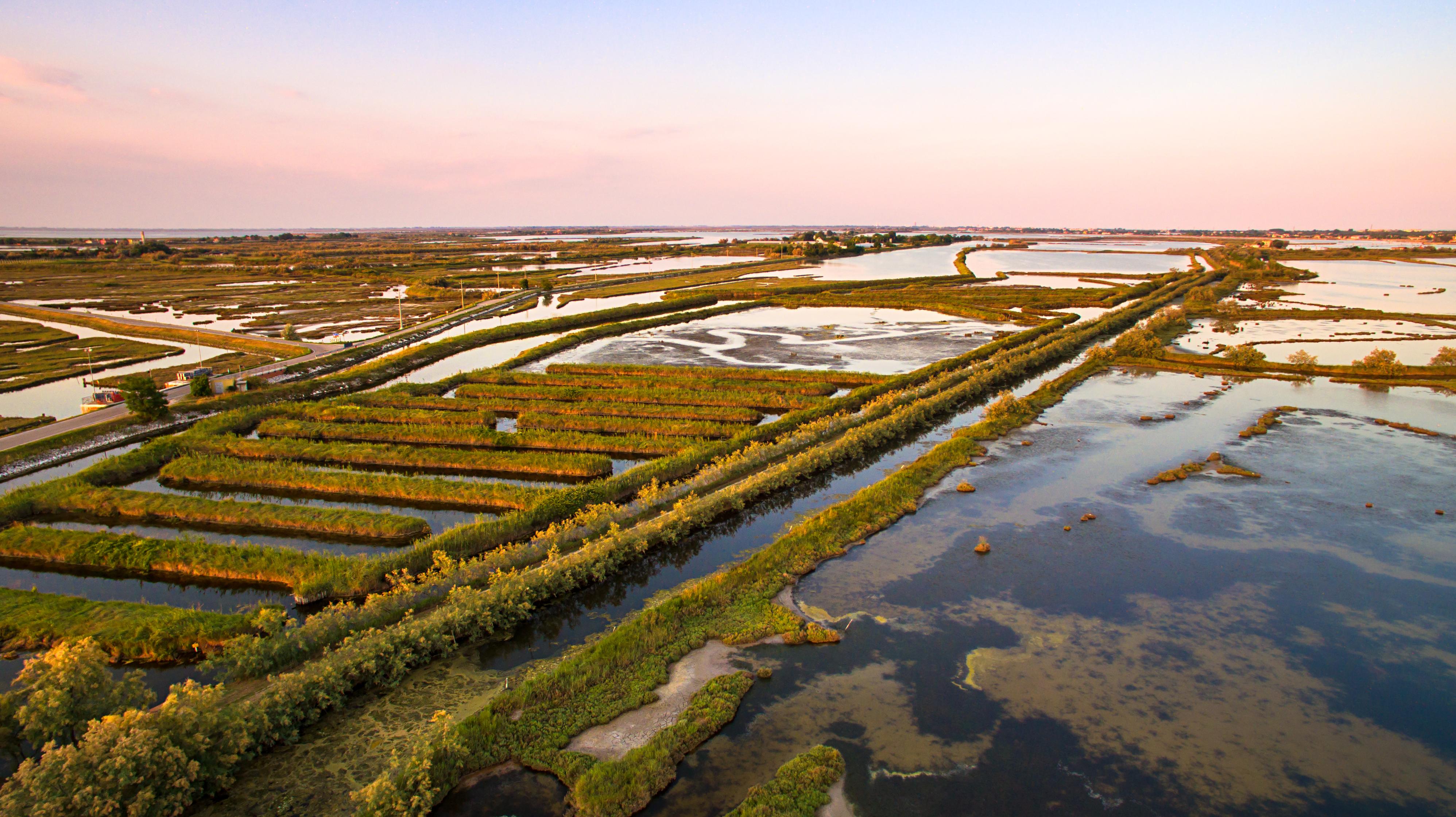 veduta aerea della laguna di venezia vicino a Casa Florindo