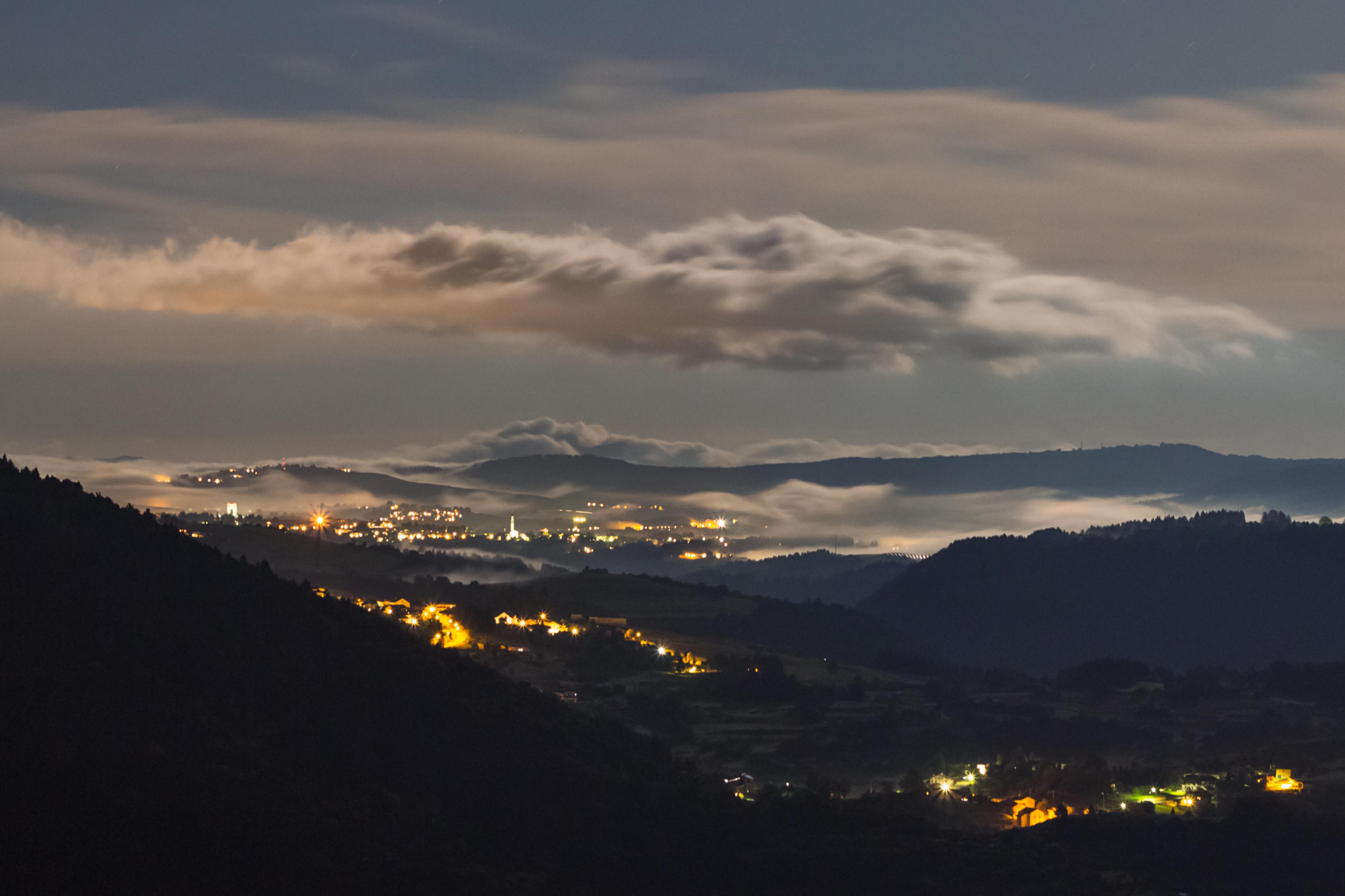 Altopiano dei Sette Comuni, vista notturna