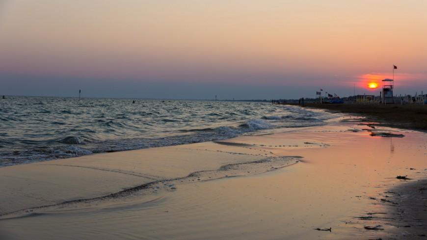 spiaggia di Bibione al tramonto