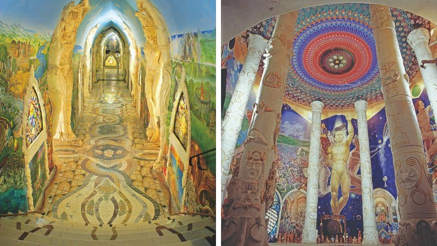 Il labirinto e la sala della terra, templi di Damanhur
