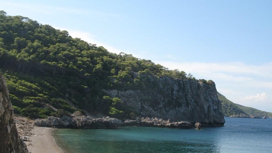 Una baia nel Golfo di Corinto
