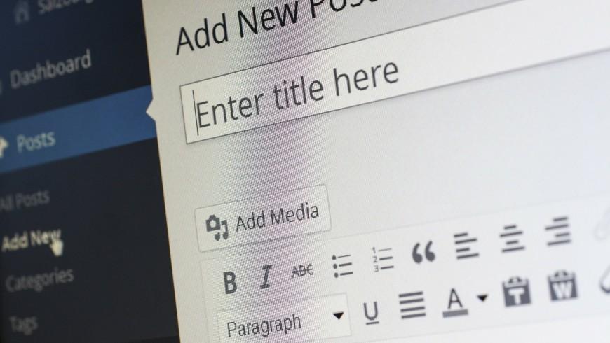 pagina strumenti di wordpress