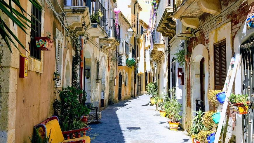 I vicoli colorati di Ortigia