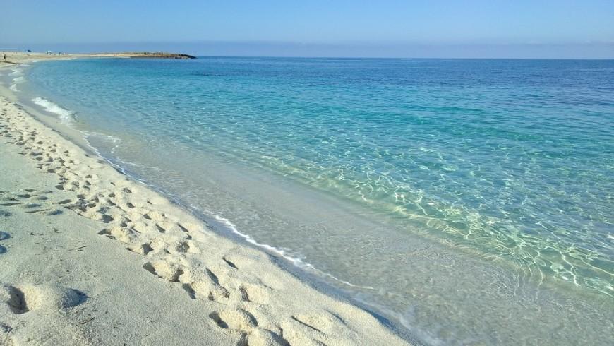 La meravigliosa spiaggia di Is Arutas, non lontana dalla struttura Bisos