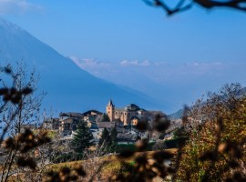 vista sulle Alpi e su Verrayes