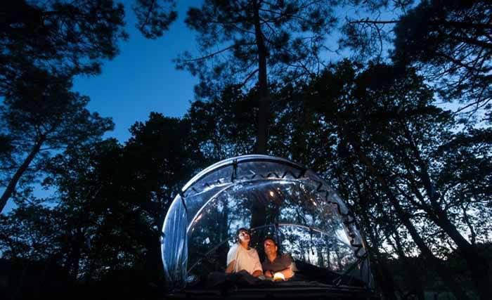 Una tenda panoramica tra le colline di Macerata