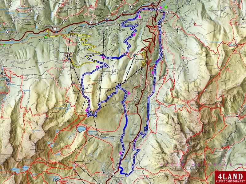 mappa dell'itinerario, val di sole