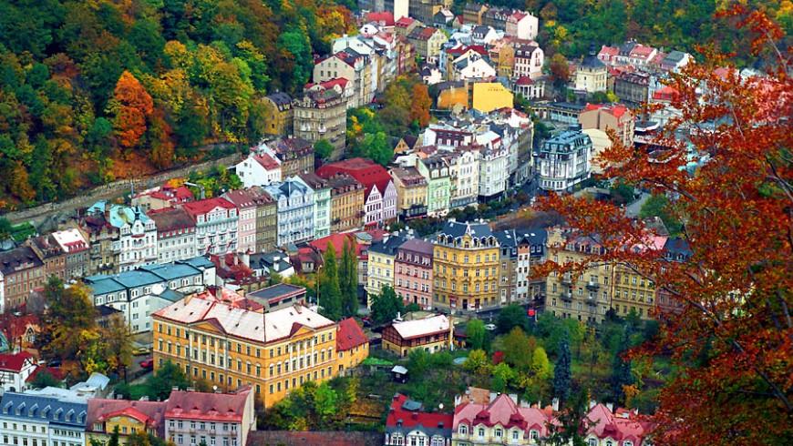 Karlovy Vary, città termale nella repubblica ceca