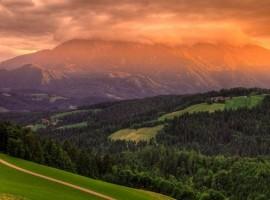 Ekohotel Farm Koroš panorama tramonto