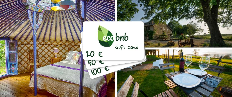 Gift Card di Ecobnb per regalare un'esperienza unica nella natura