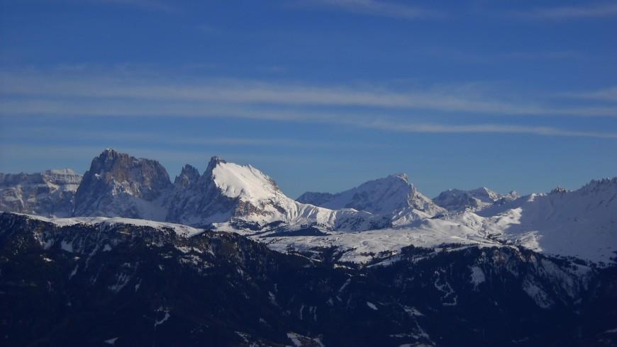 Visuale delle montagne dal corno del renon
