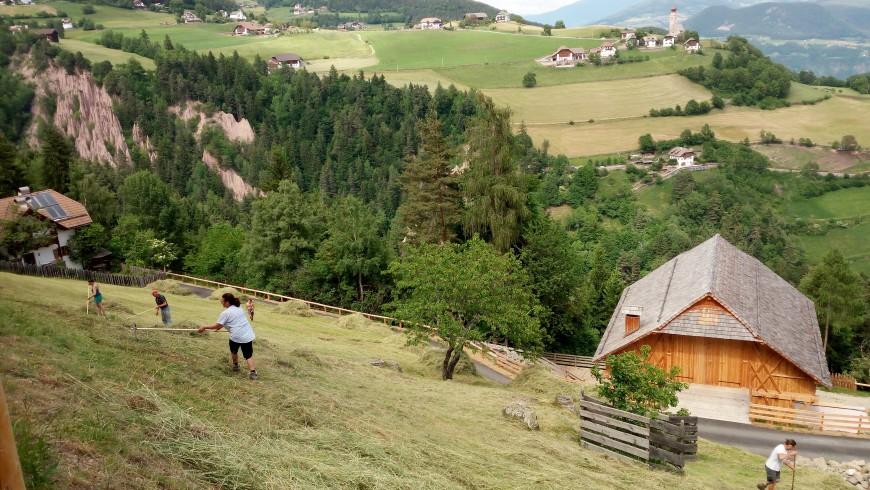Maso di montagna nell'altopiano