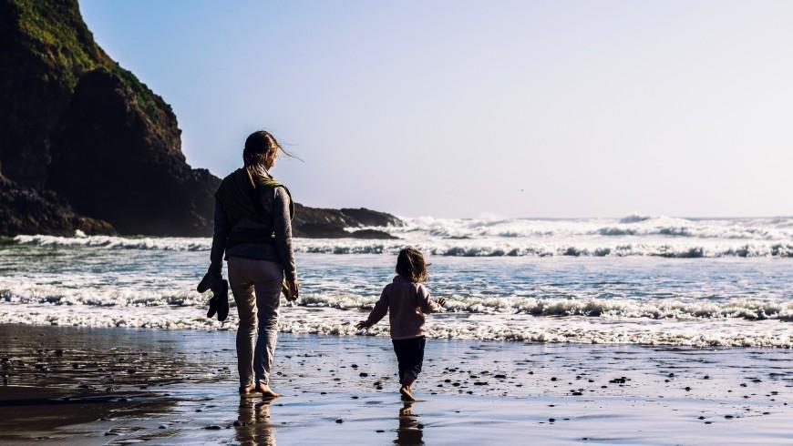 mare, spiaggia e bambini, benessere e felicità