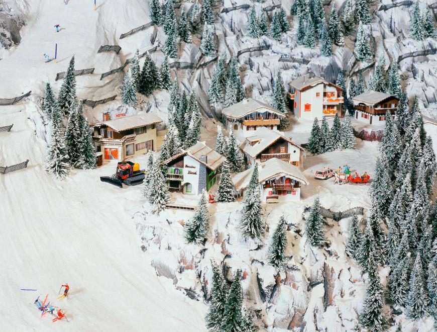 Paesaggio alpino innevato a Miniatur Wunderland