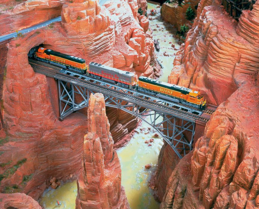 In treno attraverso il Grand Canyon, America a Miniatur Wunderland