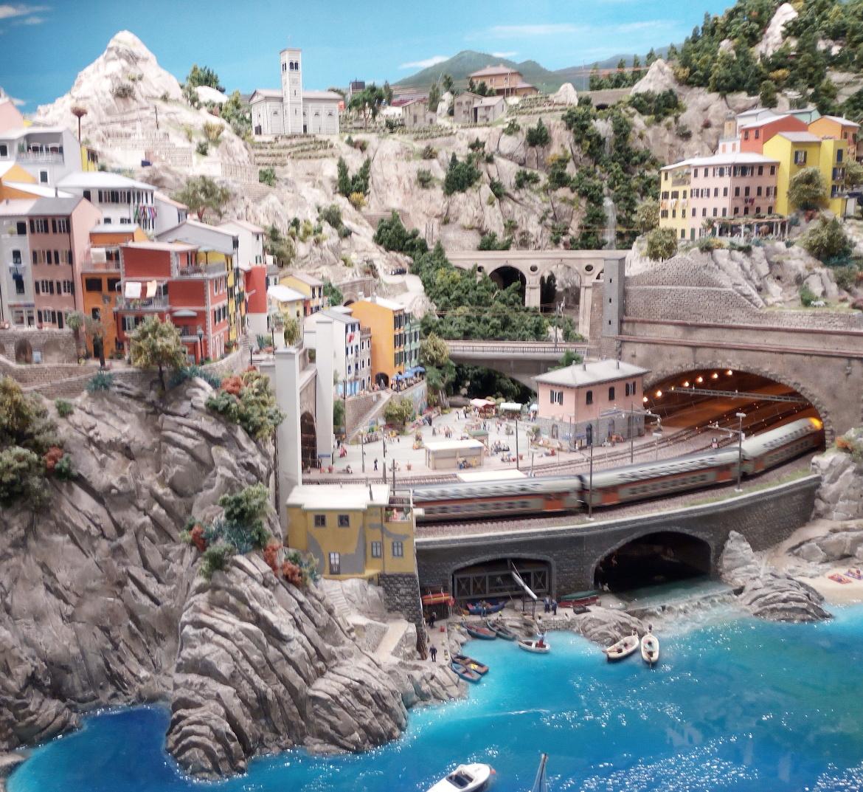 Cinque Terre, Riomaggiore in Miniatura al museo di Amburgo