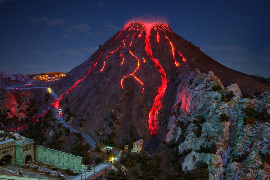 Vesuvio che erutta a Miniatur Wunderland