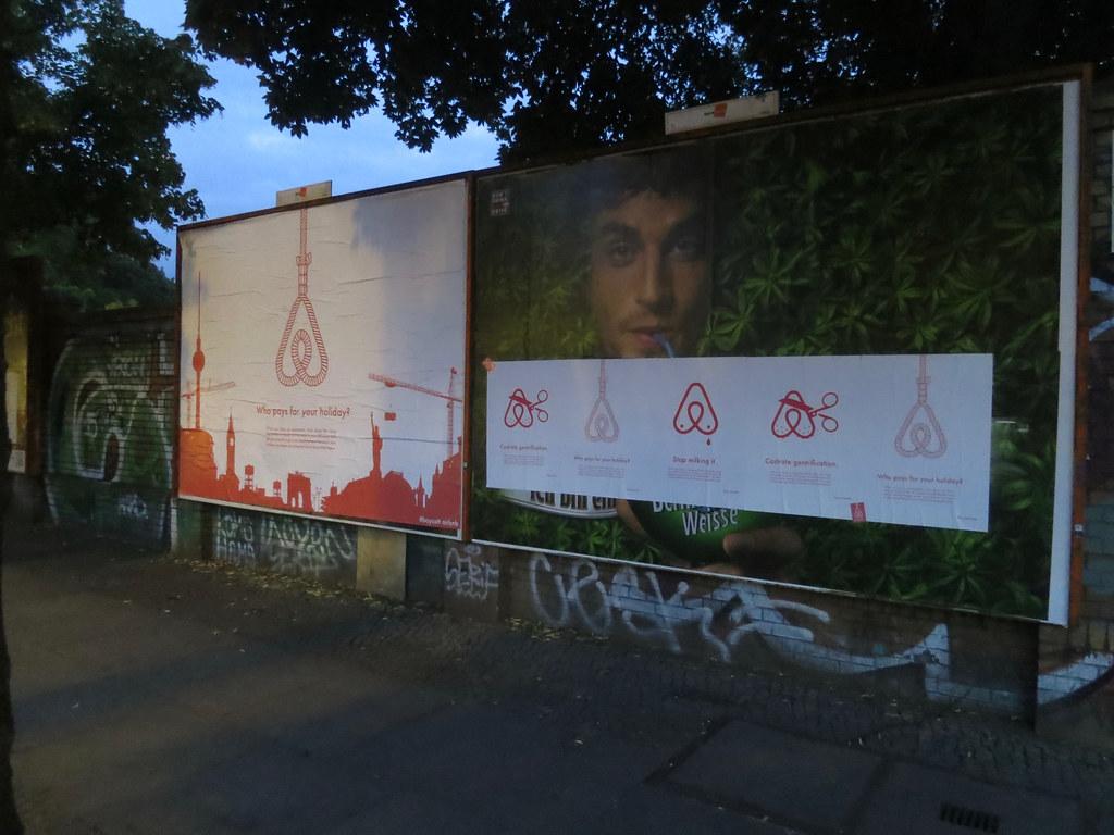 Protesta contro Airbnb a Berlino