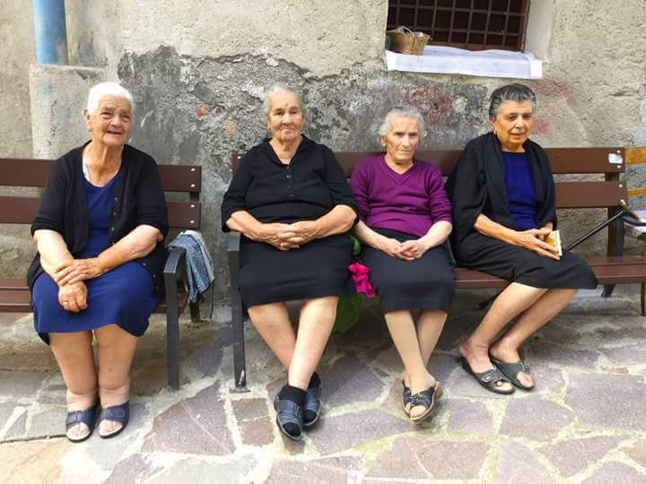 Calabrian elders sitted on a chair