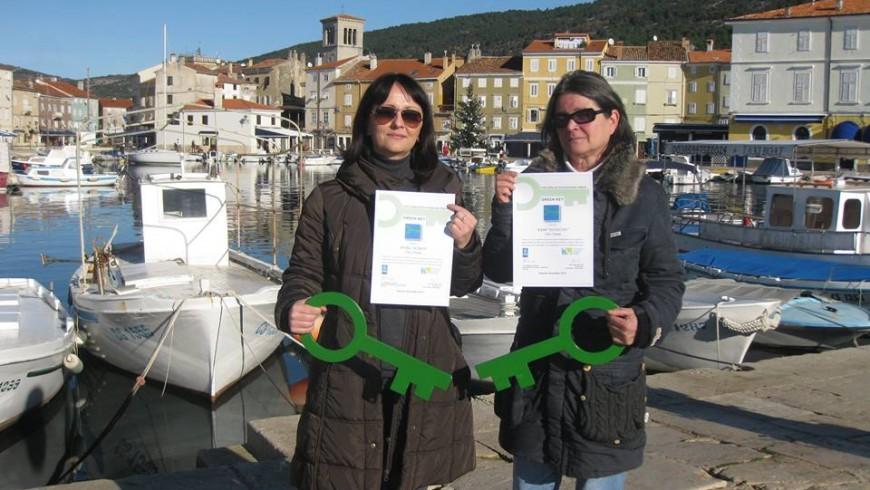 Vincitrici del premio Green key
