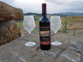 vino locale nel paesaggio