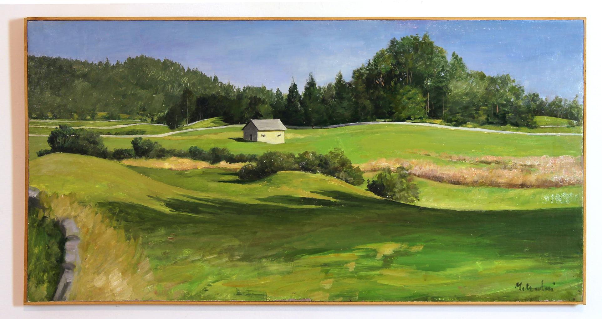Paesaggio di Lavarone rappresentato in un'opera di Serge Micheloni