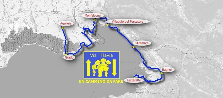 mappa cammino via Flavia