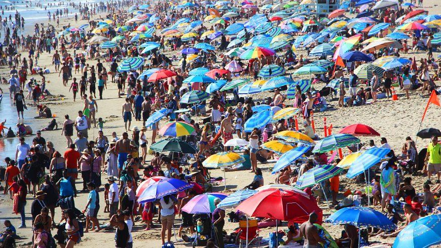 overtourism in spiaggia