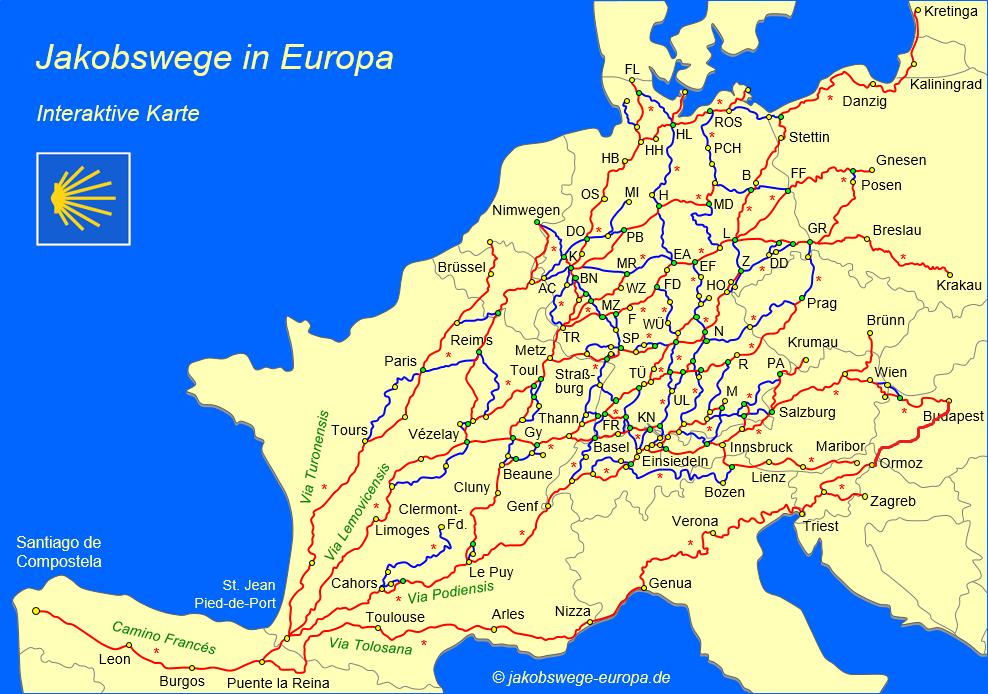 mappa tragitti europei, la riuscita del sogno
