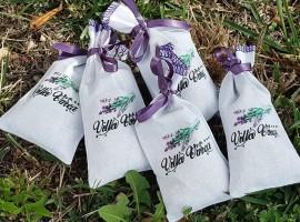 gift bag con lavanda.