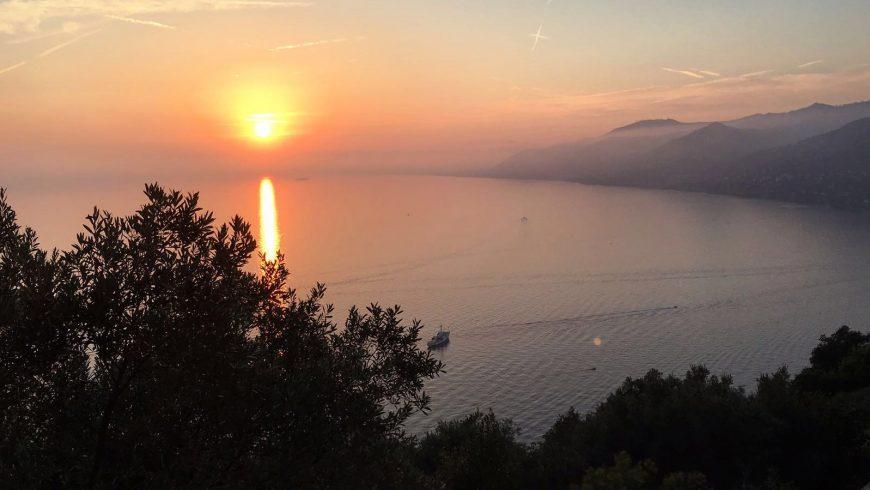 Panorama al tramonto dal Bar Dai Muagetti