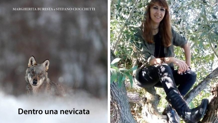 Margherita Buresta e il suo libro 'Dentro una nevicata', scritto insieme a Stefano Ciocchetti