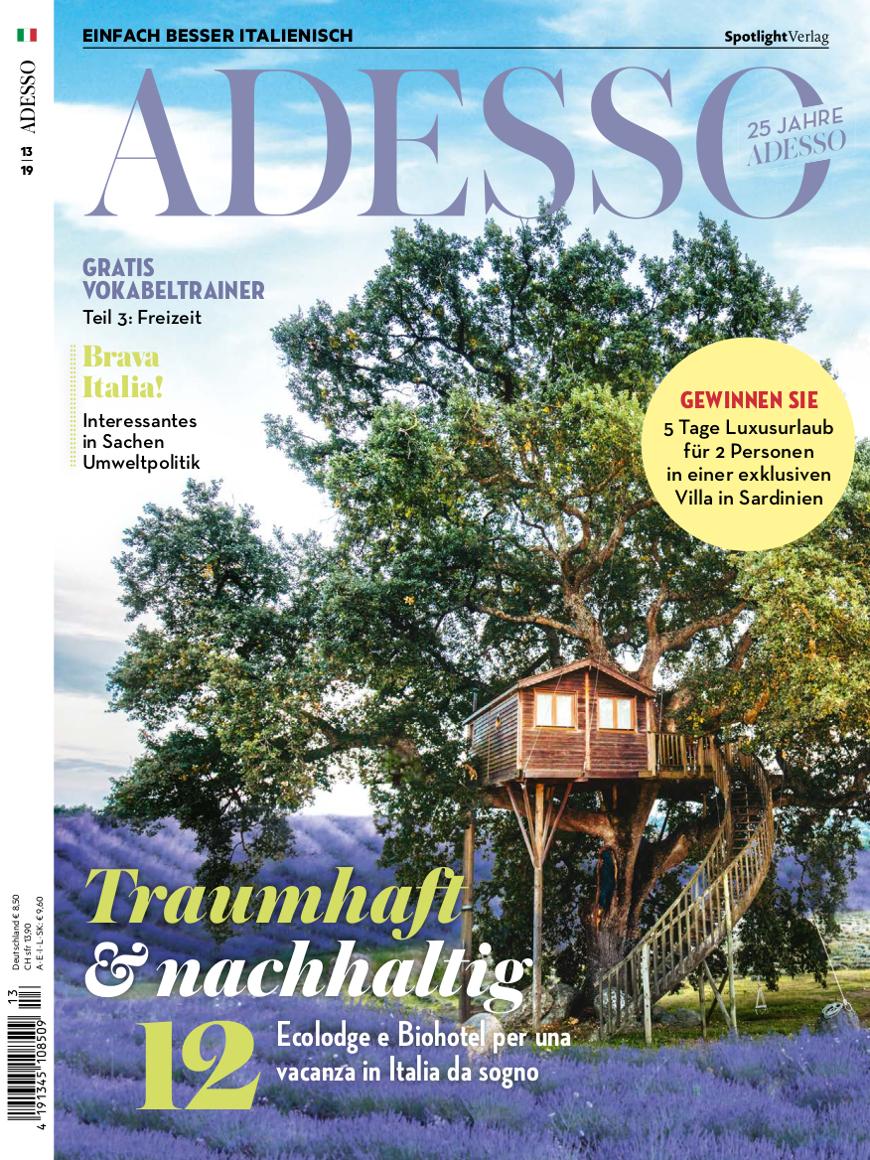 copertina della rivista adesso Magazine