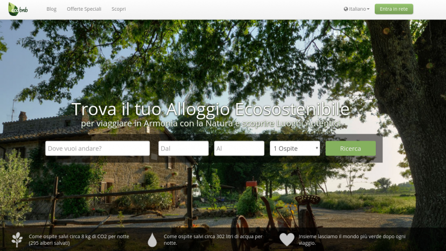 ecobnb home page