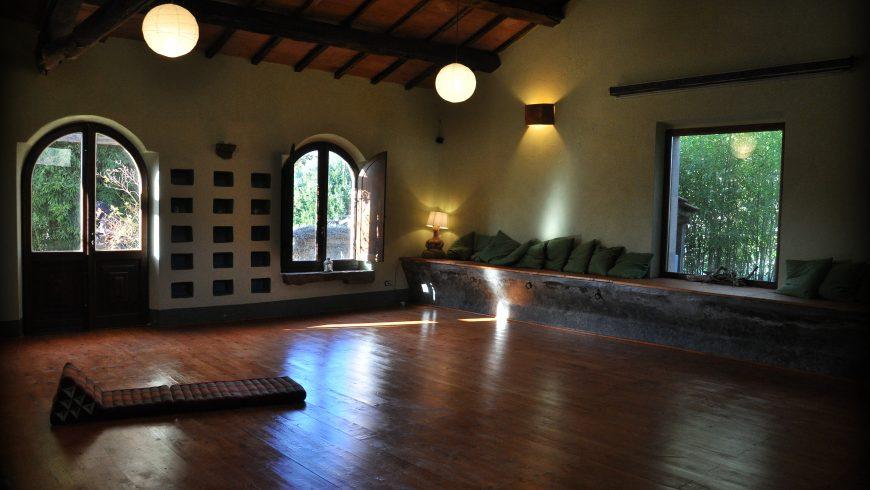 Sala per ritiro yoga a podere di Maggio