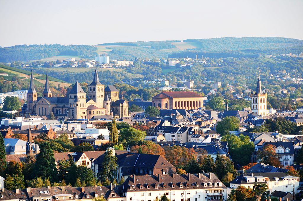 Treviri, vista dal Weisshaus al centro storico