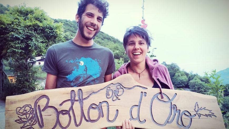 Letizia e Manuel, ideatori e proprietari del B&B Botton d'Oro in Valle Imagna